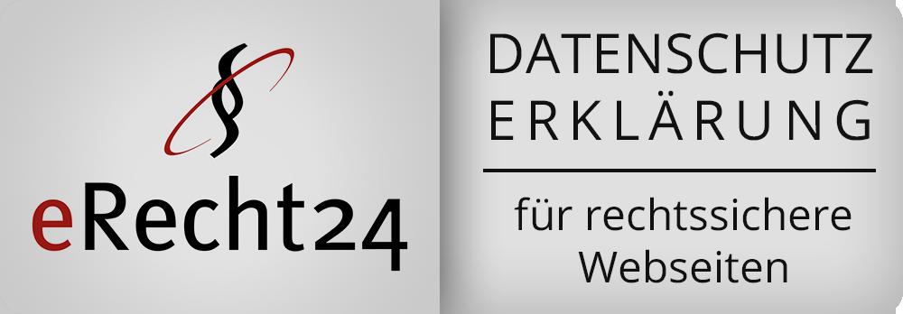 eRecht24 Siegel für Datenschutzerklärung