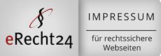 eRecht24 Siegel für Impressum