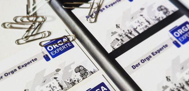 Visitenkarten füt den Orga Experten